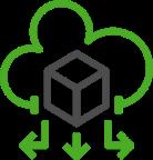Cloud transformation icon