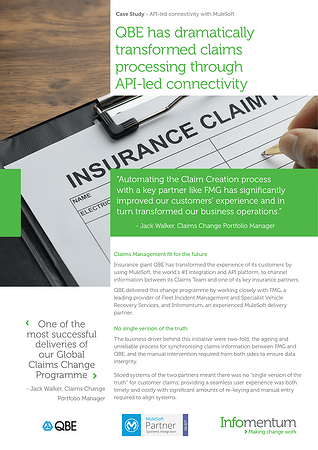 Case Study global insurer digital transformation